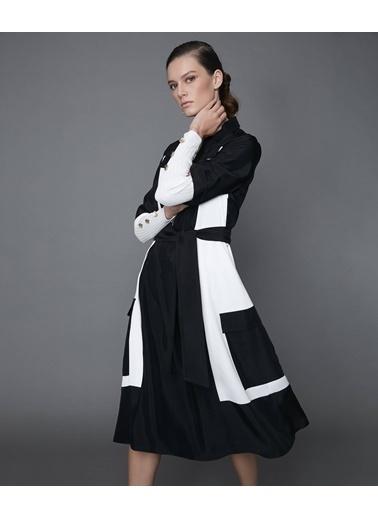 Ipekyol Kuşaklı Double Kol Midi Elbise Siyah